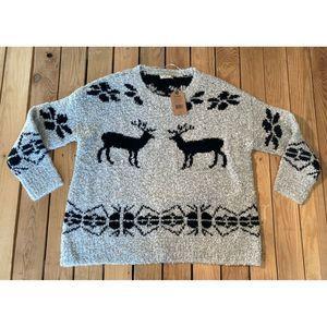 NWT Ruff Hewn Knit Wool Sweater oatmeal